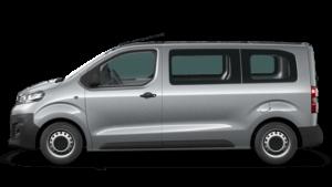 silberner Opel Bus Seitenansicht
