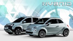 zwei Fiat hellblau