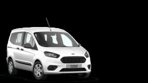 weißer Van auf transparentem Hintergrund