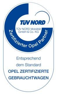 TÜV Nord Auszeichnung zertifizierter Opel Partner