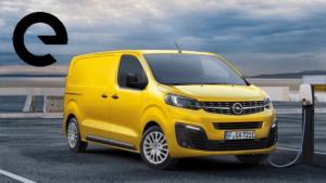 Opel Vivaro-e auf Parkplatz an Ladesäule