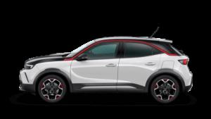 weißer SUV Opel Mokka transparenter Hintergrund